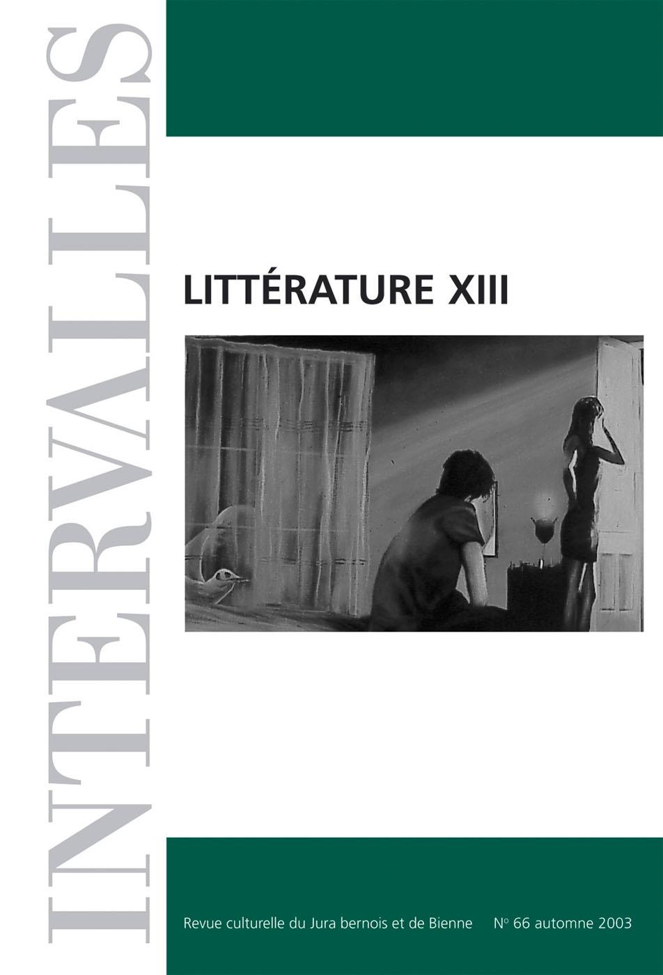 No 66 – Littérature XIII