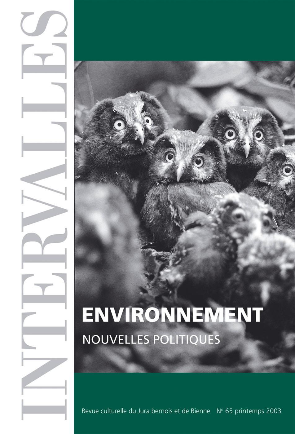 No 65 – Environnement