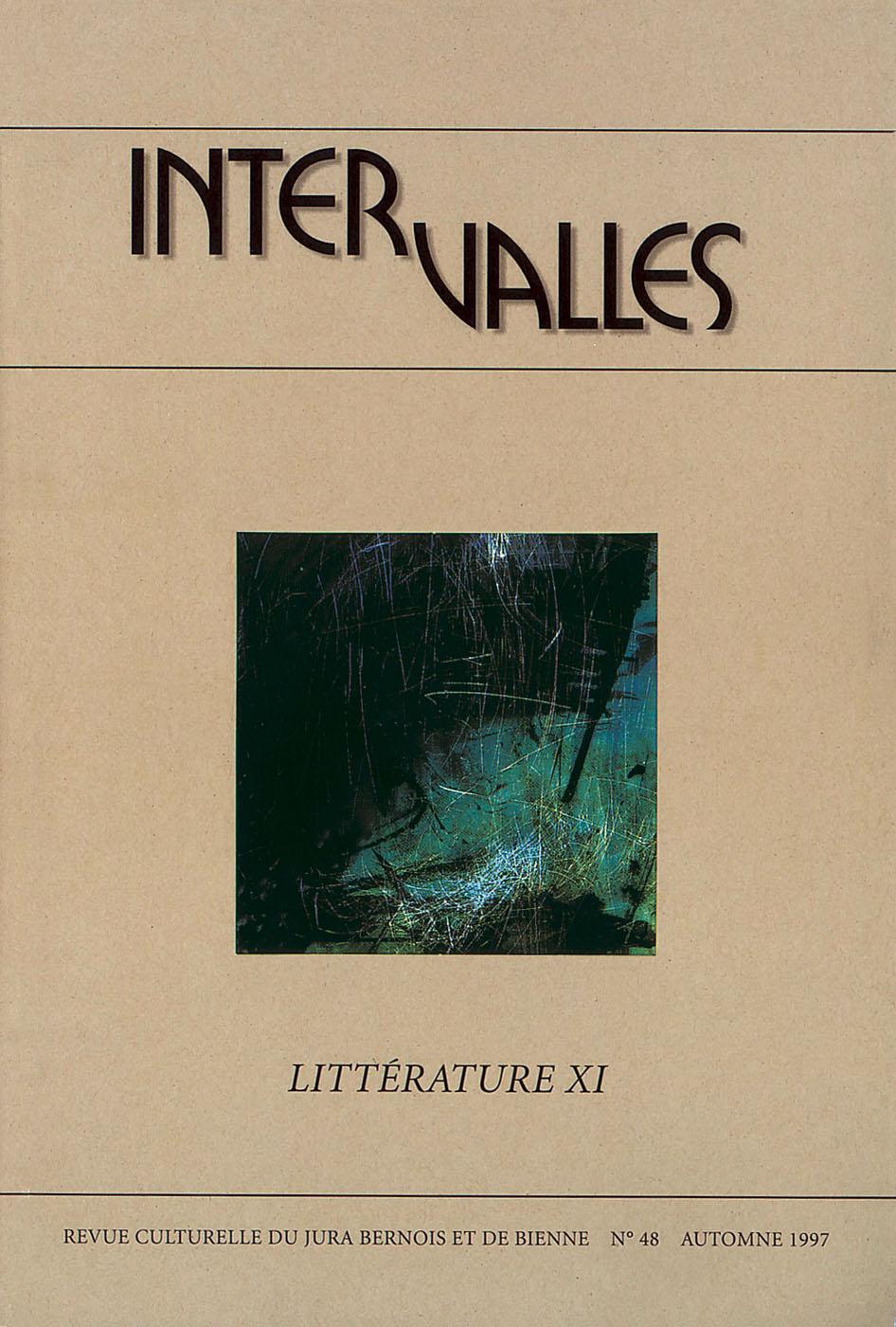 No 48 – Littérature XI «Ecrire ici»