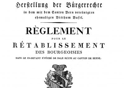 No 109 - Réglement 1816