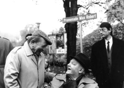 Avec J-F Comment  à l'Inauguration de la Promenade en 1992